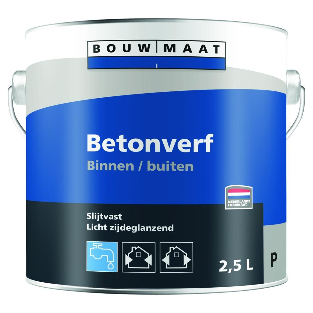 Zeer Bouwmaat Betonverf acryl basis P voor binnen en buiten, 2,5 l NB93